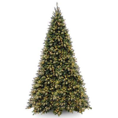 Tiffany Fir 12' Green Artificial Christmas Tree with 1400 Clear Lights and Stand
