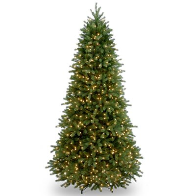 Jersey Fraser Fir 7.5' Green Artificial Christmas Tree with 800 Clear Lights and Stand