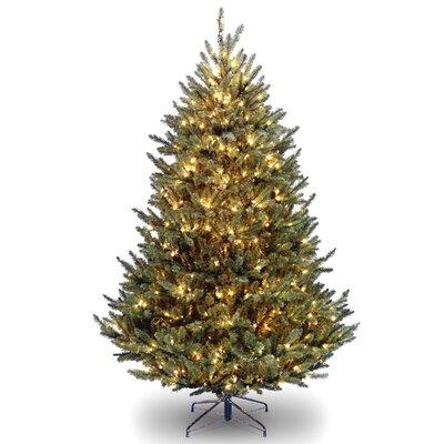 Natural Fraser 7.5' Green Medium Fir Artificial Christmas Tree with 1000 Clear Lights