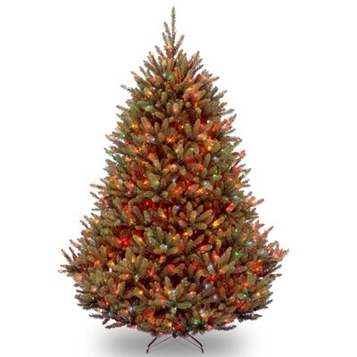 Natural Fraser 7.5' Green Medium Fir Artificial Christmas Tree with 1000 Colored & Multi Color Lights