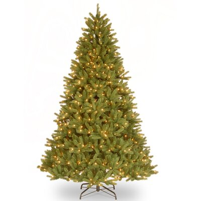 9' Green Fir Artificial Christmas Tree with 900 Clear Lights and Stand