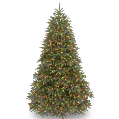 Jersey Fraser Fir 7.5' Green Artificial Christmas Tree with 1000 LED Multi Lights and Stand
