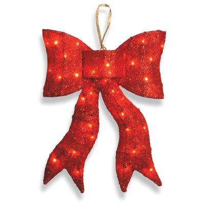 Decorative D cor Pre-Lit Wavy Bow Christmas Decoration Color: Red