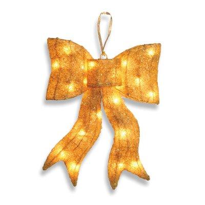 Decorative D cor Pre-Lit Wavy Bow Christmas Decoration Color: Yellow