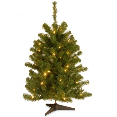 National Tree Co. Eastern 3' Spruce Artificial Christmas Tree with Clear Light