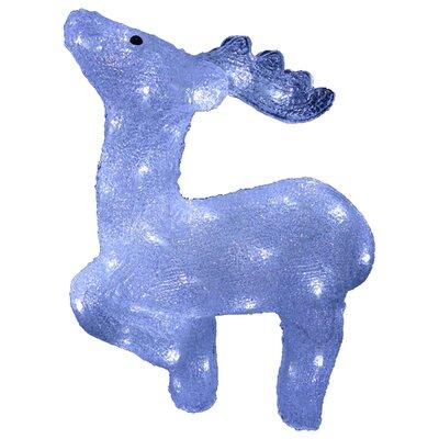 Acrylic Prancing Reindeer Christmas Decoration