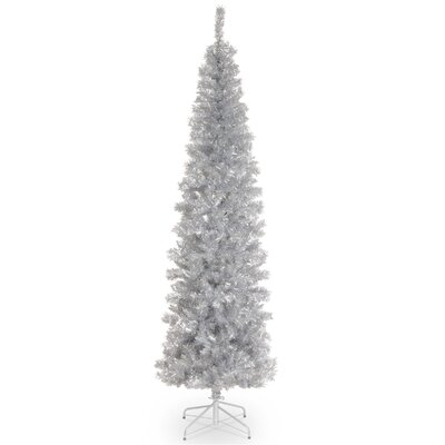 Tinsel Trees 6' Silver Artificial Christmas Tree Unlit with Stand