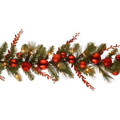 Decorative Pre-Lit Christmas Mixed Garland