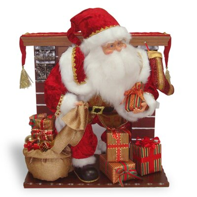 Plush D�cor Plush Santa Sitting on Rocking Chair PL27-BC092