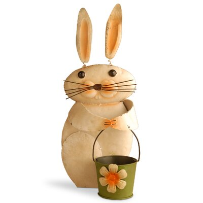 Tin Rabbit Statue RAE-140013RS-1