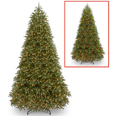 Jersey Fraser 10' Green Fir Artificial Christmas Tree with 1200 Dual Color LED Lights Includes Stand