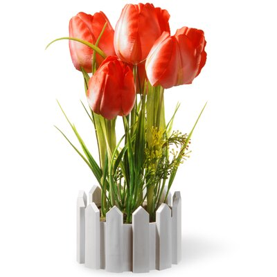 Faux Tulips in Pot NF36-5031S-1