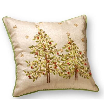 Christmas Trees Throw Pillow