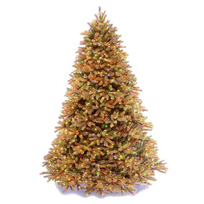 Jersey Fraser Fir 7.5' Artificial Christmas Tree with 1250 Pre-Lit Multi-Colored Lights with Stand