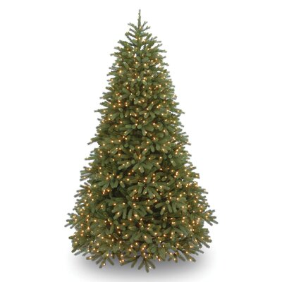 Jersey Fraser Fir 7.5' Green Medium Artificial Christmas Tree with 1000 Pre-Lit Clear Lights with Stand