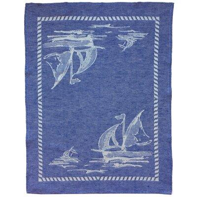 Cotton And Linen Sailboat Dishcloth