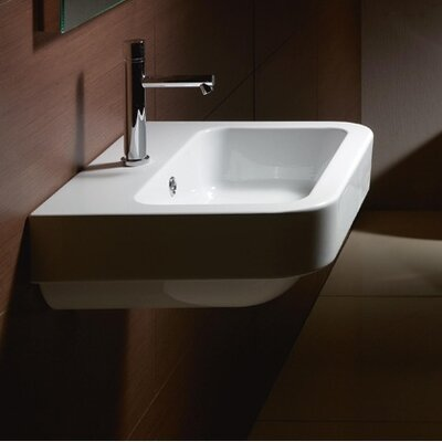 Traccia 26 Wall Mount Bathroom Sink with Overflow