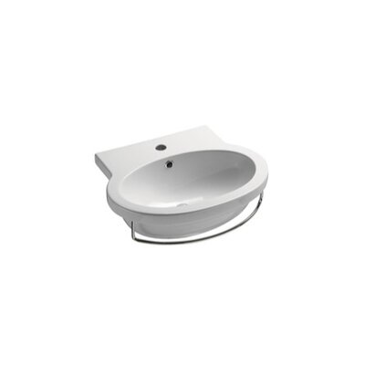 Panorama 32 Wall Mount Bathroom Sink with Overflow
