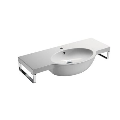 Panorama 40 Wall Mount Bathroom Sink with Overflow