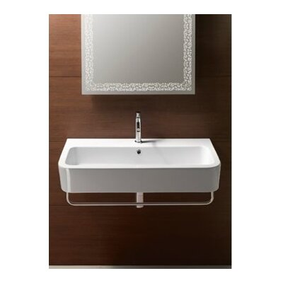 Traccia 36 Wall Mount Bathroom Sink with Overflow