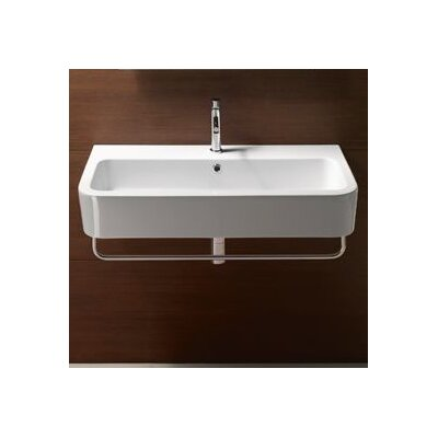 Traccia 11 Wall Mount Bathroom Sink with Overflow