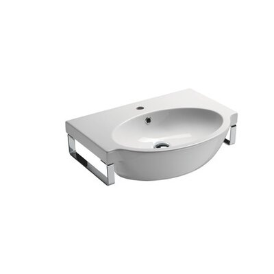 Panorama 26 Wall Mount Bathroom Sink with Overflow