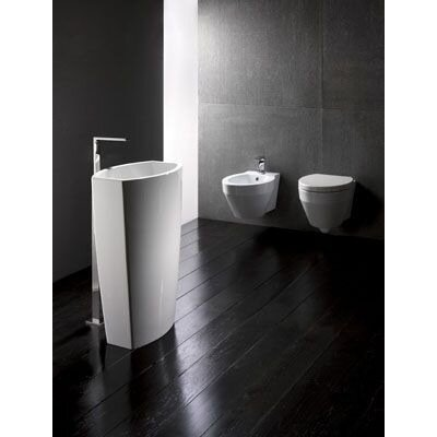 Losagna 22 Ceramic Pedestal Bathroom Sink