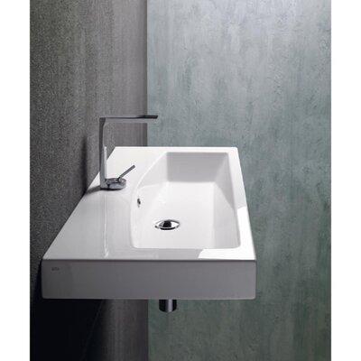 Losagna Modern Ceramic 30 Bathroom Sink with Overflow Faucet Mount: Single Hole