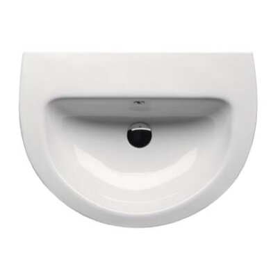 City Ceramic25 Pedestal Bathroom Sink with Overflow Faucet Mount: Single Hole
