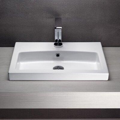 Losagna 24 Bathroom Sink with Overflow