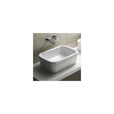 Traccia Ceramic Rectangular Vessel Bathroom Sink