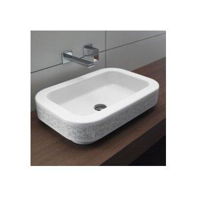 Traccia Ceramic Rectangular Drop-In Bathroom Sink
