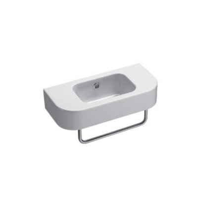 Traccia 24 Wall Mount Bathroom Sink with Overflow
