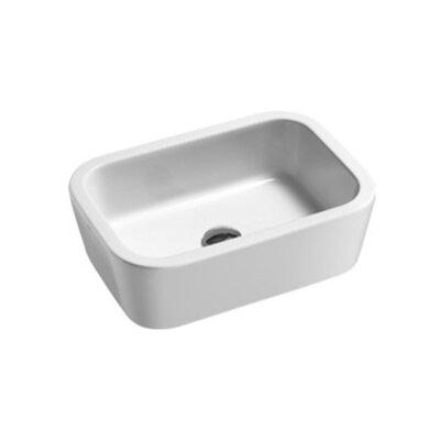 Traccia Ceramic Rectangular Bathroom Vessel Sink