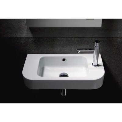 Traccia 22 Wall Mount Bathroom Sink with Overflow