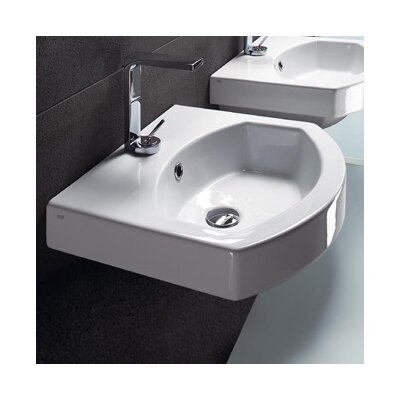 20 Bathroom Sink with Overflow Faucet Mount: Single Hole
