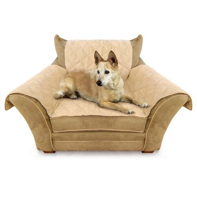 Box Cushion Armchair Slipcover Color: Tan