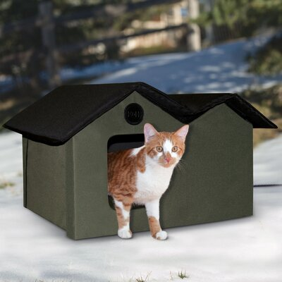 Heated Outdoor Extra Wide Cat House