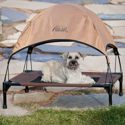 Pet Cot Canopy Bed Accessory Size: Large (28 H x 30 W x 42 L), Color: Tan