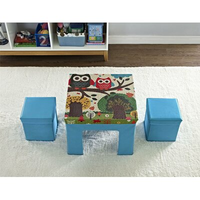 Altra Cosco Kids 3 Piece Square Table and Chair Set 5830296PCOM