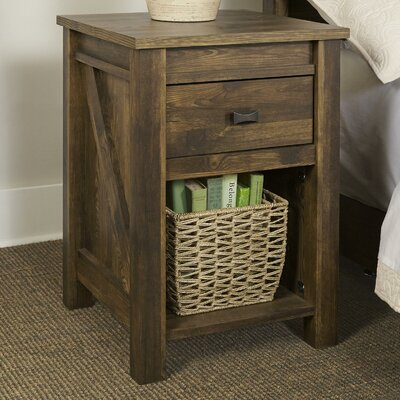 Cleveland 1 Drawer Nightstand Color: Pine