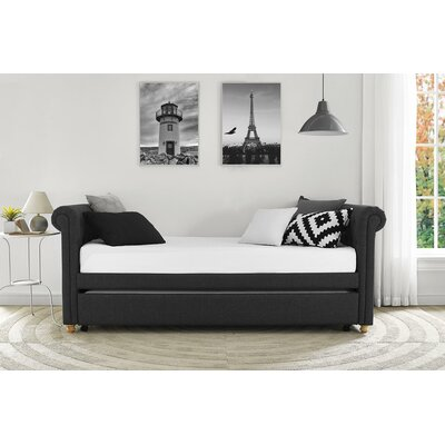 Rossburg Daybed with Trundle Color: Grey