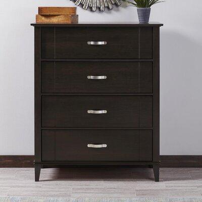 Myles 4 Drawer Dresser Color: Espresso
