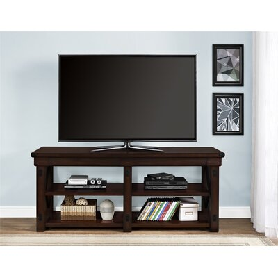 Glane Wildwood Wood Veneer 65 TV Stand Color: Mahogany