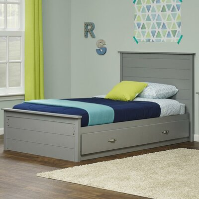 Elon Twin Platform Bed Finish/Color: Light Slate Gray