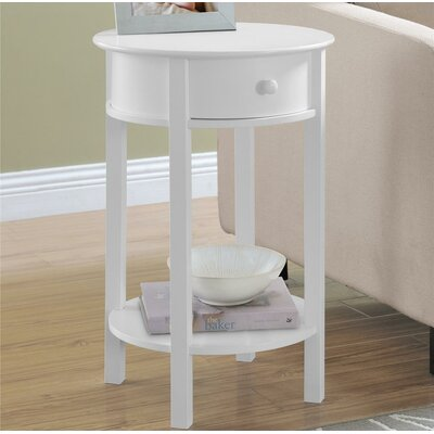 Baltimore Storage End Table Color: White