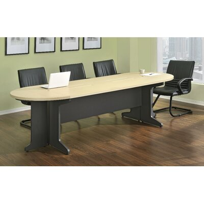 Benjamin Oval Conference Table Size: 7 1.375 L