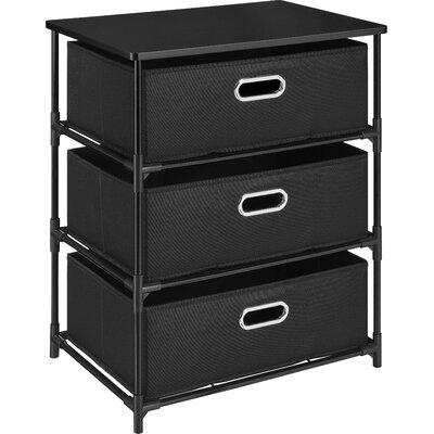 Jordan 3 Drawer Storage End Table Finish: Black