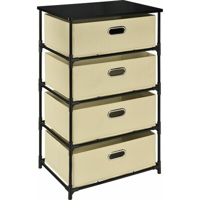 4 Drawer Storage Unit End Table Finish: Natural
