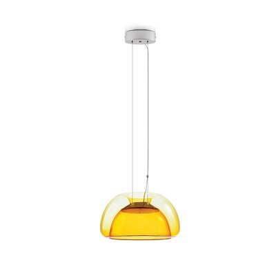 Aurelia 1-Light Bowl Pendant Color: Orange